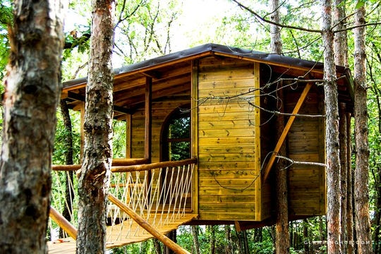 A Glamping Hub accommodation: A Tree House Glamping Getaway In Halkidiki Greece
