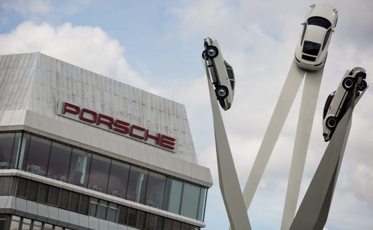 Porsche headquarters in Stuttgart, Germany.