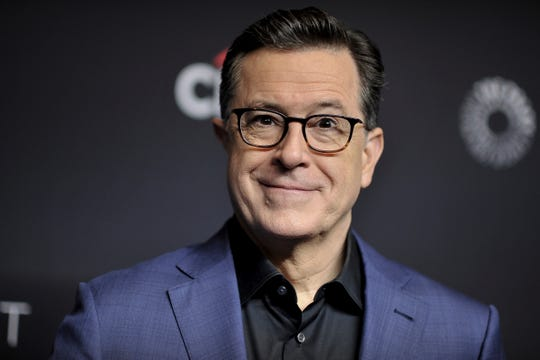 "We can't even picture ""Late Show"" host Stephen Colbert without glasses. His current pair are from Barton Perreira."