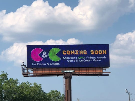 C&C Ice Cream and Arcade on East Greenville Street recently had signage installed for its new location. The venue will be an old-school style arcade and ice cream shop.