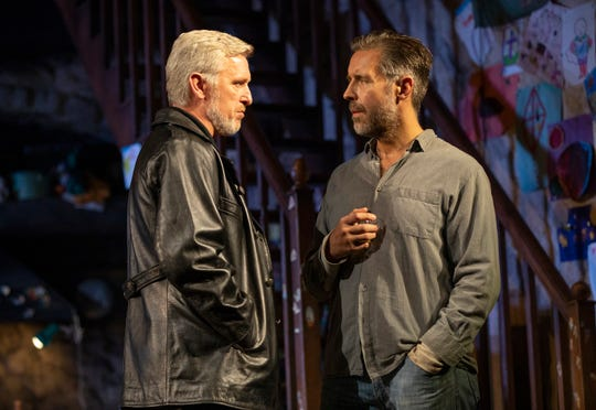 "Stuart Graham, left, and Paddy Considine in a scene from ""The Ferryman."""
