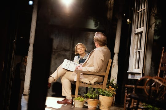 "Celia Keenan Bolger with Jeff Daniels in a scene from ""To Kill a Mockingbird."""