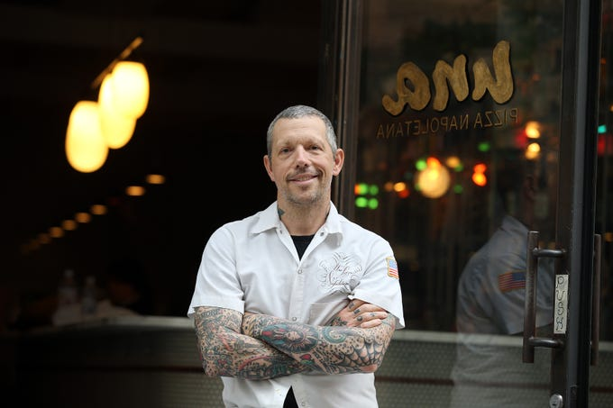 Anthony Mangieri, an Ocean County native who is one of the world's foremost pizza makers, talks about his career and plans to open Una Pizza Napoletana in Atlantic Highlands at the Una Pizza Napoletana restaurant in New York City, NY Thursday May 30, 2019.