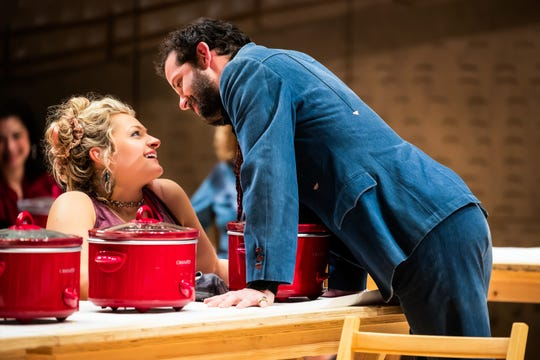 "Ali Stroker and Will Brill in a scene from ""Rodgers & Hammerstein's Oklahoma!"""
