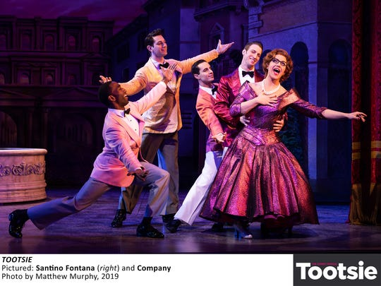 "Santino Fontana, right, in a scene from ""Tootsie."""