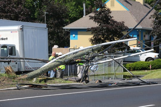 Aftermath of a truck accident with entrapment on Route 36 & Grove Street in Middletown, NJ Friday, May 31, 2019.