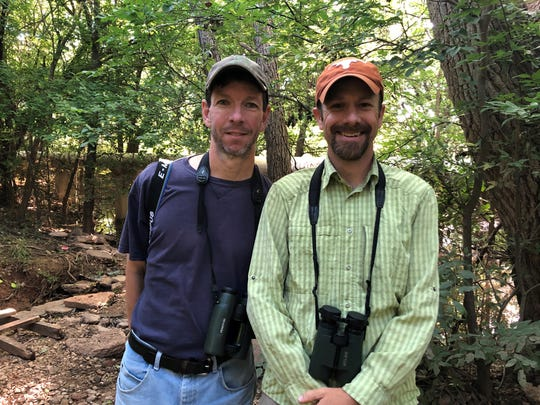 Jay Packer and Eric Carpenter, a guest from Austin.