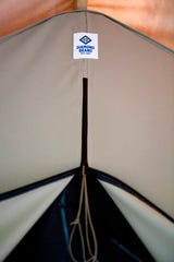 Glamping tents at Lake Powhatan were made by Diamond Brand.