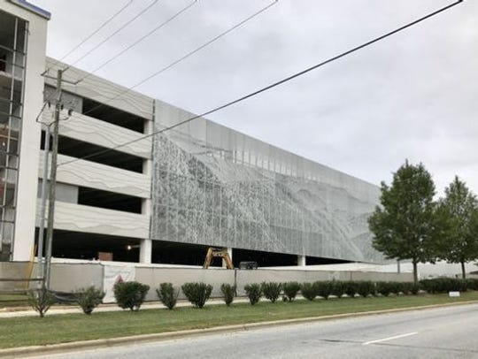 Asheville Regional Airport opened its new $22 million parking garage in 2018.