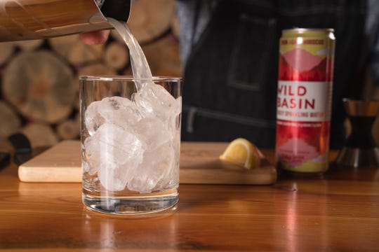 Making cocktails with Wild Basin, hard seltzer from Oskar Blues.