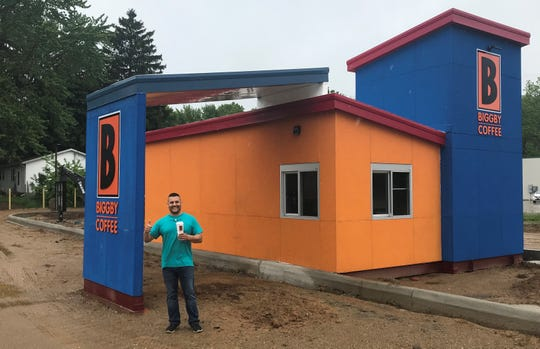 Charles Solano, owner of the new Biggby B-Cubed in Pennfield Charter Township, expects the coffee shop to open by mid-June.