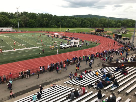View from up top Thursday at Section 4 State Qualifier at U-E.