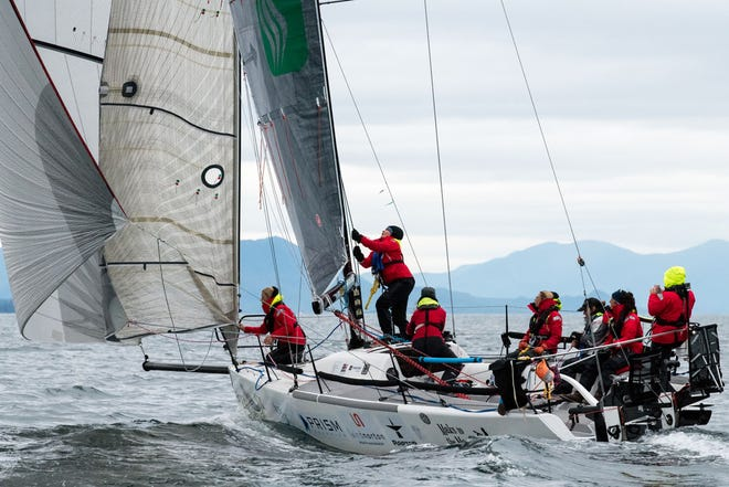 Team Sail Like a Girl underway in 2018.