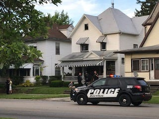 Six people were taken into custody Thursday after police searched 818 S. Sandusky Ave. on Thursday evening, confiscating suspected drugs and drug paraphernalia.