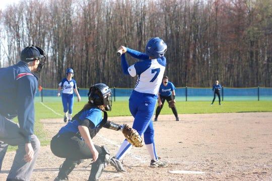 Missisquoi's Sarah Harvey has hit 11 home runs on the season.