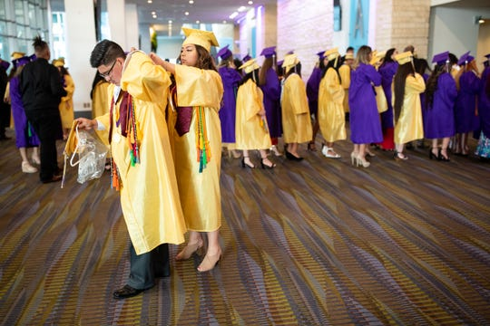 The 2019 Miller graduation at the American Bank Center on Thursday, May 20, 2019.