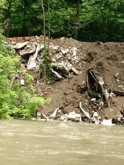 Rob Stevens was kayaking on Paint Creek when he noticed mounds of trash piled onto the banks. His photos have since been shared on Facebook in a post to nearly 200 people.