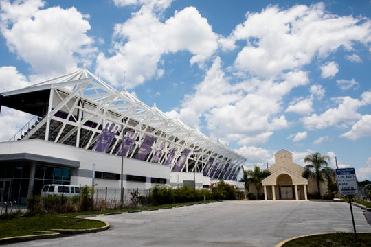 A view of Faith Deliverance Temple sits next to Orlando City Stadium in the location the stadium was originally planned to be build on May 17, 2019.