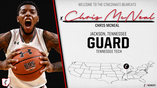 Chris McNeal will be eligible to play for the Cincinnati Bearcats men's basketball team in the 2019-20 season.