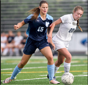 Unity Christian's Jori Bronner (left) has been a force all season. She currently leads the state with 42 goals through 18 games.