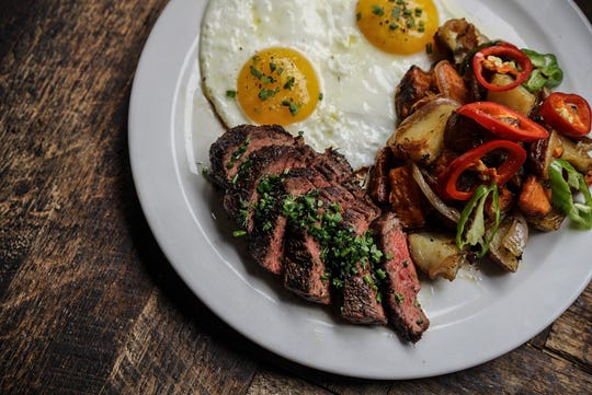 Steak and Eggs is one of the new dinner items at Commonwealth Café in Birmingham.