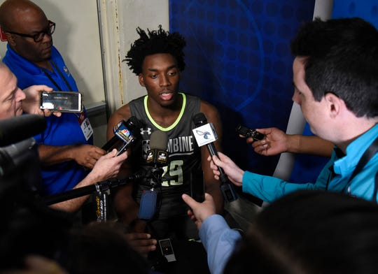 Nassir Little during the NBA draft combine in Chicago, May 16, 2019.