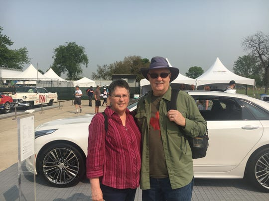 Denise and Larry Livingston of Windsor attend Free Prix Day at the 2019 Detroit Grand Prix Friday, May 31.