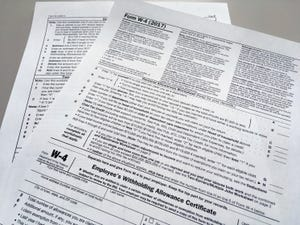 An IRS W-4 form in New York.