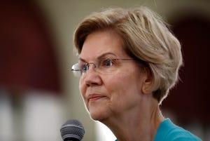 Democratic presidential candidate Sen. Elizabeth Warren.