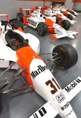 This #31 Marlboro car was driven by 1994 Indy 500 winner Al Unser Jr. The engine,  specifically built for the Indy 500 race, was called 'The Beast,' and was outlawed after Unser Jr.'s win.