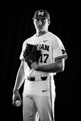 Michigan pitcher Jeff Criswell is from Portage.
