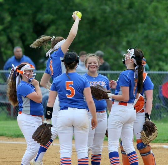Thomas A. Edison was an 11-0 winner over Greene in a Section 4 Class C softball semifinal May 30, 2019 in Elmira Heights.