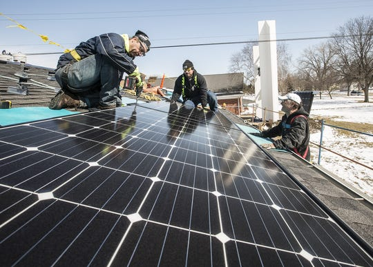 Solar panels were installed last spring on the roof of Pilgrim United Church of Christ in Fond du Lac. A new group is forming in Fond du Lac to organize sustainability effort in the city and the community is invited to join in. Doug Raflik/USA TODAY NETWORK-Wisconsin
