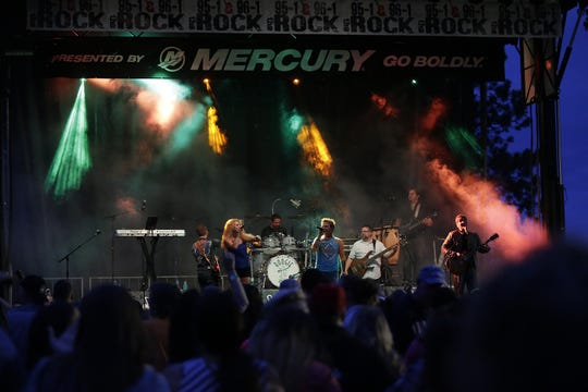 Boogie and the Yo-Yoz perform at Fond du Lac's 2018 Walleye Weekend. The group will perform this year from 7 to 10 p.m. on June 8 on the Mercury Marine & 96.1 The Rock Point Stage.