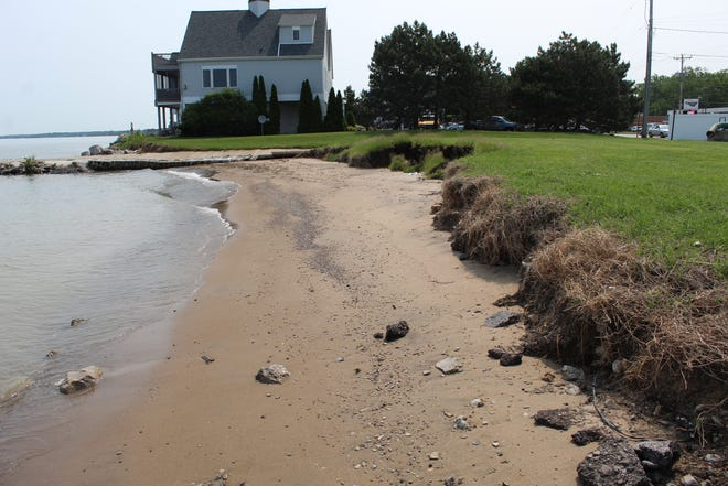 Ottawa County municipalities and private property owners have been battling severe shoreline erosion this year, as record high water levels on Lake Erie have taken a heavy toll on area beaches and shoreline stabilization structures.