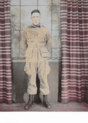 Bill Stephens of Sand Coulee in his jump uniform. He served in the 502nd PIR in the 101st Airborne Division during WWII.