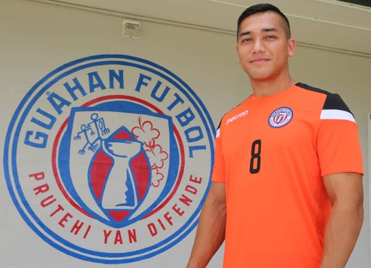 Mark Chargualaf, recently called up to the Matao, Guam Men's National Football Team, was instrumental in creating the new team badge. The badge will be affixed on all Guam national match kits worn for international competition, according to an announcement from Guam Football Association.
