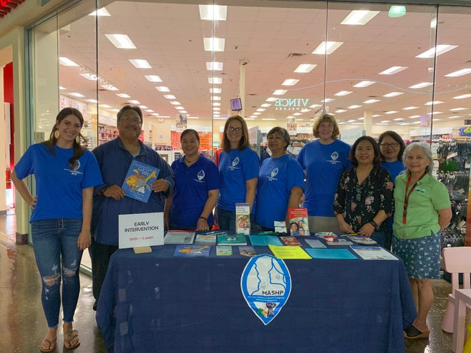 The Marianas Alliance of Speech-Hearing Professionals at their outreach on May 25 at Guam Premier Outlets.  From left: Briana Schell, Andre Artero, LeeAnn Barcinas, Amalia Badua, May Camacho, Regina Day, Leah Abelon, Bernice Cepeda, Marie Wusstig.