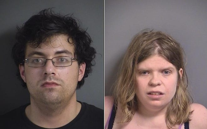 Daniel Walshire and Rebekah Mecca face public intoxication and endangerment charges after they were found having sex on a bike path in North Liberty May 31, 2019.