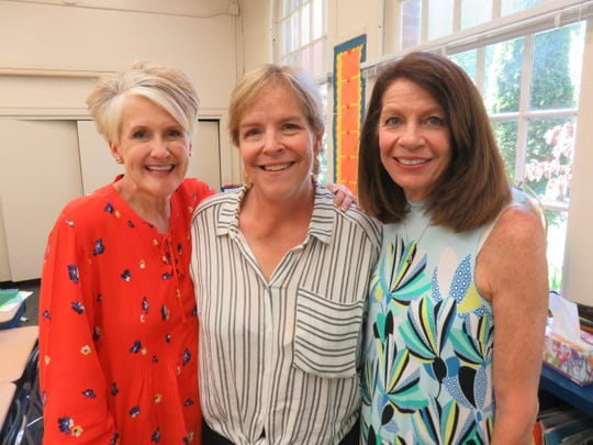 Retiring teachers at Sequoyah Elementary, from left, Cindi Ellison, Cathy Dodson and Connie Simpson.