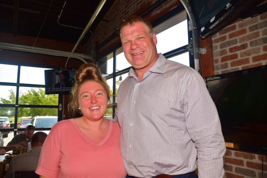 "Kayla Shelton and Mayor Glenn Jacobs at an ""Eat and Greet"" session at Double Dogs in Hardin Valley Friday, May 24."