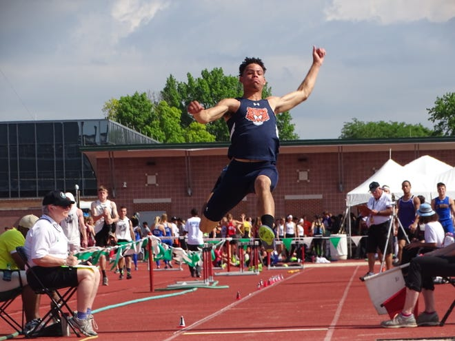 Hanif Donaldson won a regional outdoor title as a freshman and an indoor state title as a sophomore in the long jump.