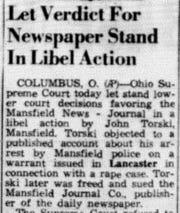 This short piece ran in the April 25, 1956 Lancaster Eagle-Gazette.