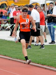 New Lexington's C.J. Ratliff competed in the 100 at last year's state meet. Ratliff recently signed to run with Tiffin University.