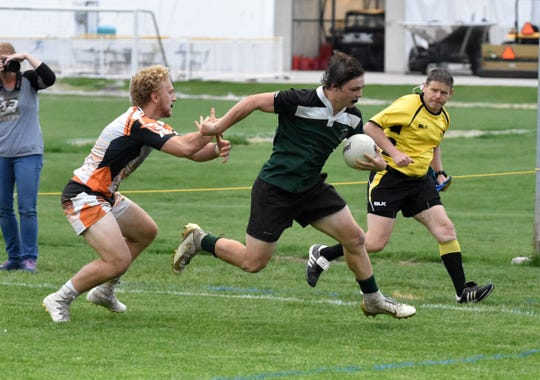 Jonah Schrock is a football running back who played his first season of rugby for Howell this spring.