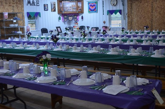 Hundreds of people typically attend Amish weddings. The meal after the ceremony is served in multiple sittings. Each couple chooses special colors. Female attendants sew their dresses in these colors, and the tables at the meal are decorated in the same colors.