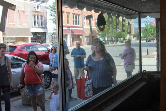 The ice cream shop that is slated to open on South Main Street by the end of June was revealed Thursday evening.