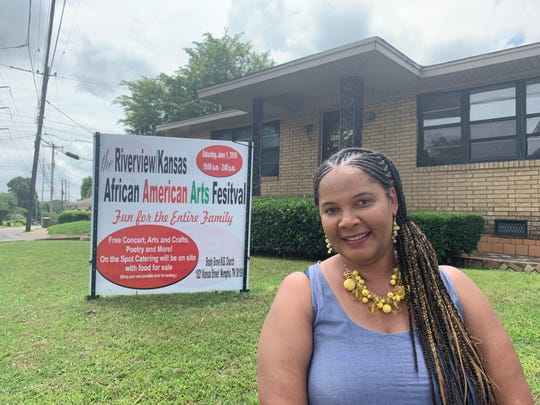 Veverly Edwards, executive director of the African American Arts Cafe, eagerly waits to provide the community with cultural arts. She has planned a festival for Saturday to give the neighborhood a taste of what the cafe will offer.