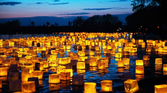 The Water Lantern Festival floats into Milwaukee's Veterans Park Saturday.