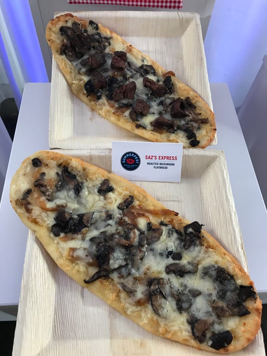 Saz's Express in the Ethnic Village will offer a Roasted Mushroom Flatbread with the option to add steak.